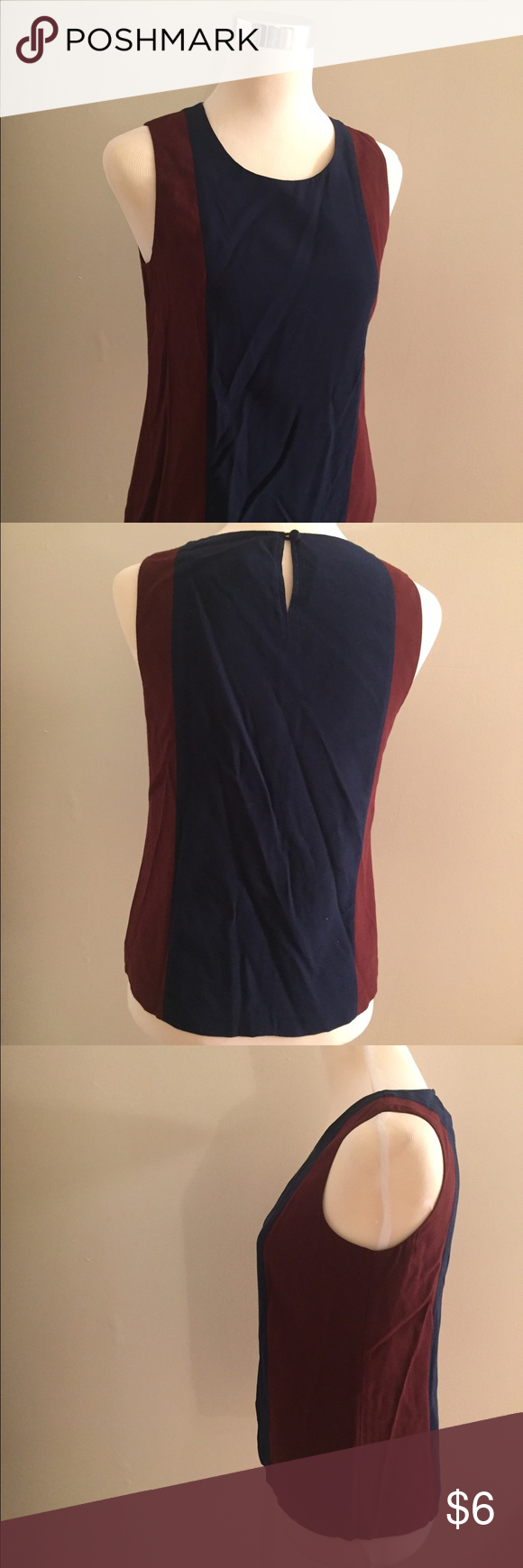 531770d1749fd J Crew Two Tone Top Two tone top with key hole in back. Can be paired with  jeans or a pencil skirt. Colors are great for fall. J. Crew Tops Blouses