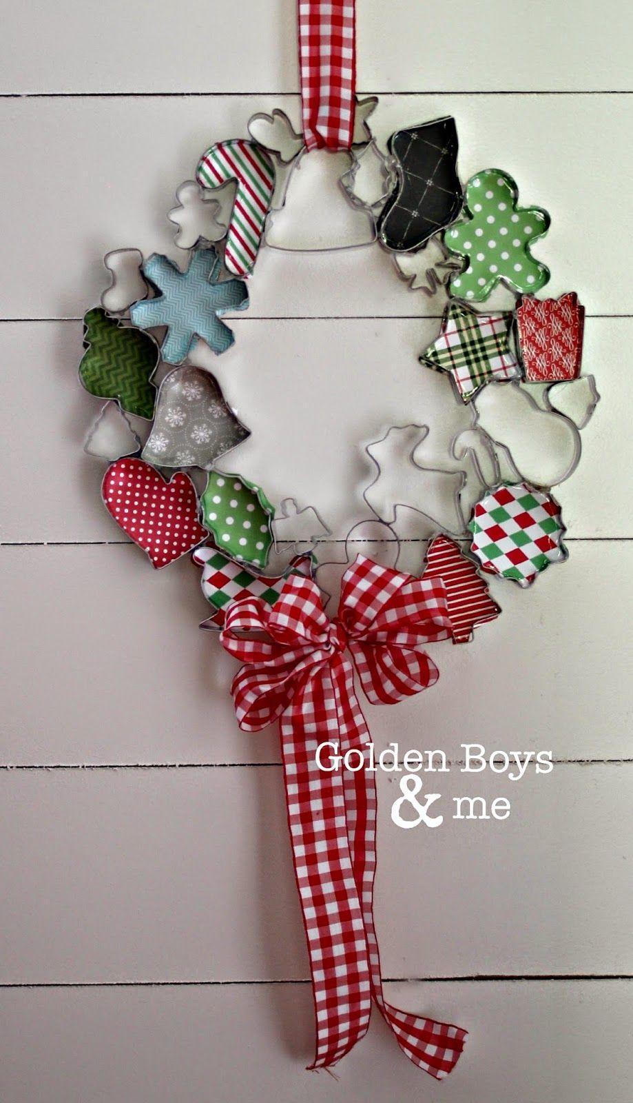 Christmas Cookie Cutter Wreath Christmas Craft Ideas Christmas