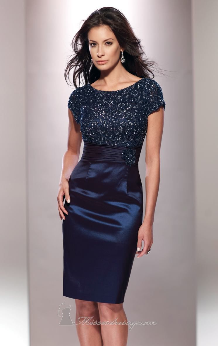 68c8559a4dc Create a lasting impression with Social Occasions by Mon Cheri 114821. A  beautiful cocktail dress in stretch taffeta. The fitted bodice features a  curved ...