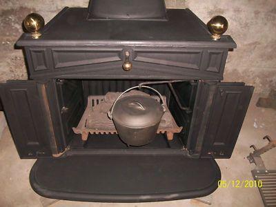 Franklin Antique Cast Iron Wood Stove