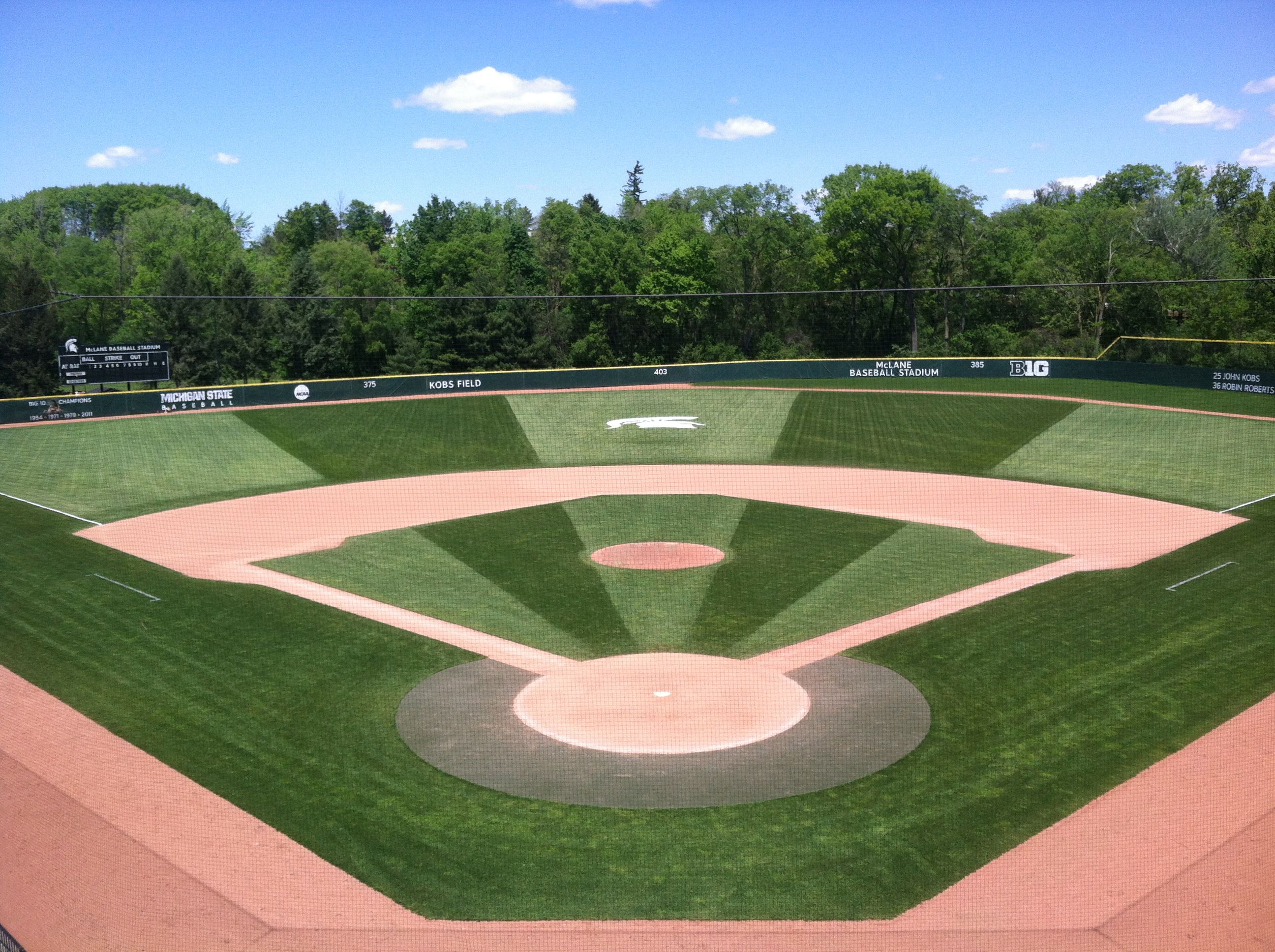 Michigan State Univesity Mclane Baseball Stadium At Kobs Field