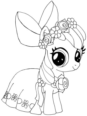 my little pony apple bloom coloring page coloring girls
