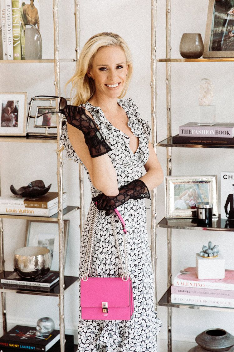 Outfit Details: Zimmerman Dress | Gucci Gloves | Fendi Handbag