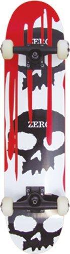 Zero 3 Skull Blood Complete Skateboard (White, 7.75-Inch) by Zero. $113.33