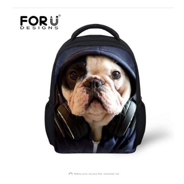 a3b6476f3d7 Lovely 3D Animal Cat Dog Printing Girls School Bags Mini Children ...