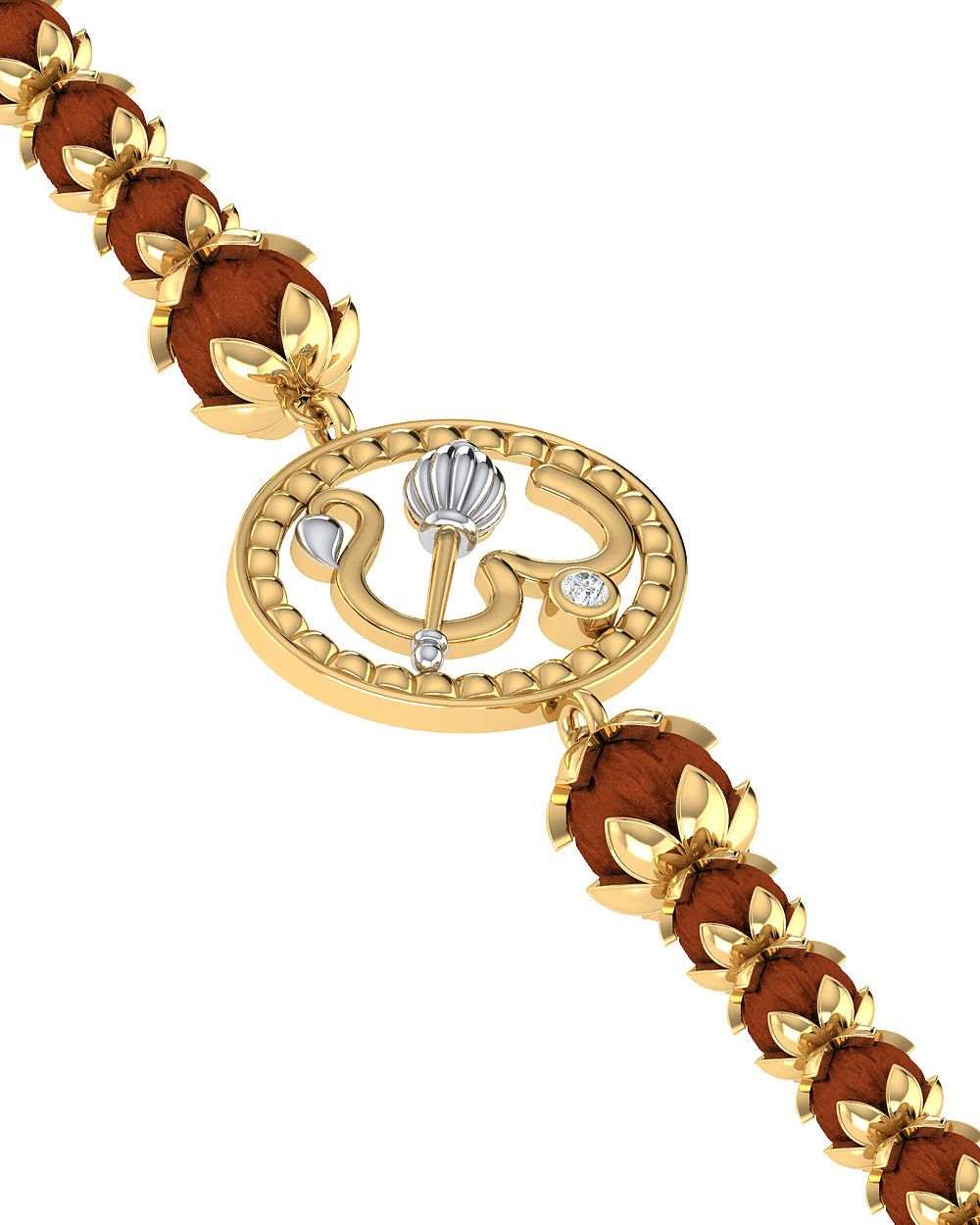 9131eed1b9 Festive And Spiritual Rakhi Bracelet With Rudraksha Beads | Jewelry ...