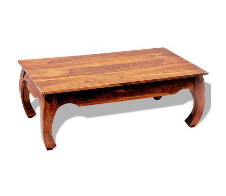 Tavolino da Caffè 40 cm in Legno Massello di Sheesham (con