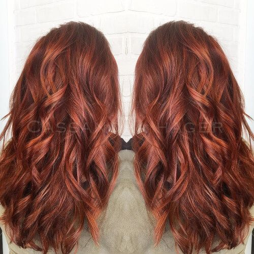 37 Stunning Red Hair Color Ideas If You Need Some Inspiration Red Hair With Highlights Red Hair Color Hair Color Auburn