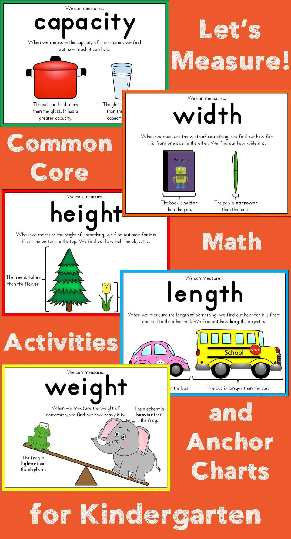 measurement for kindergarten my happy place tpt resources kindergarten math measurement. Black Bedroom Furniture Sets. Home Design Ideas
