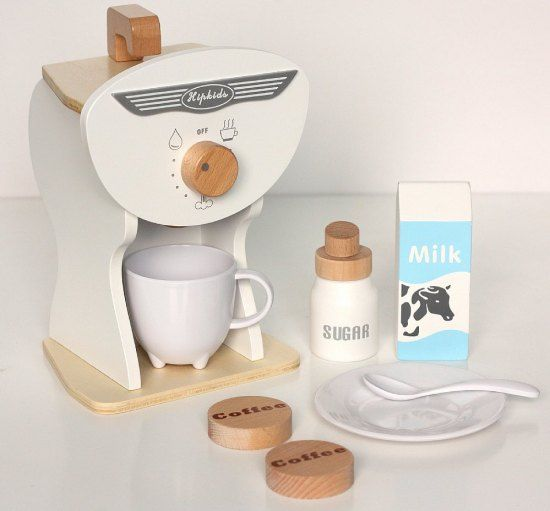 Wooden Toy Coffee Machine Set Online Ping In Australia