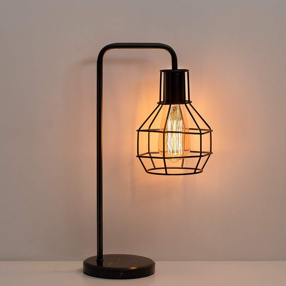 Haitral Vintage Table Lamp Nightstand Lamp Bedside Desk Lamp For Bedroom Bedroom Lamps Ideas Of In 2020 Industrial Table Lamp Vintage Table Lamp Nightstand Lamp