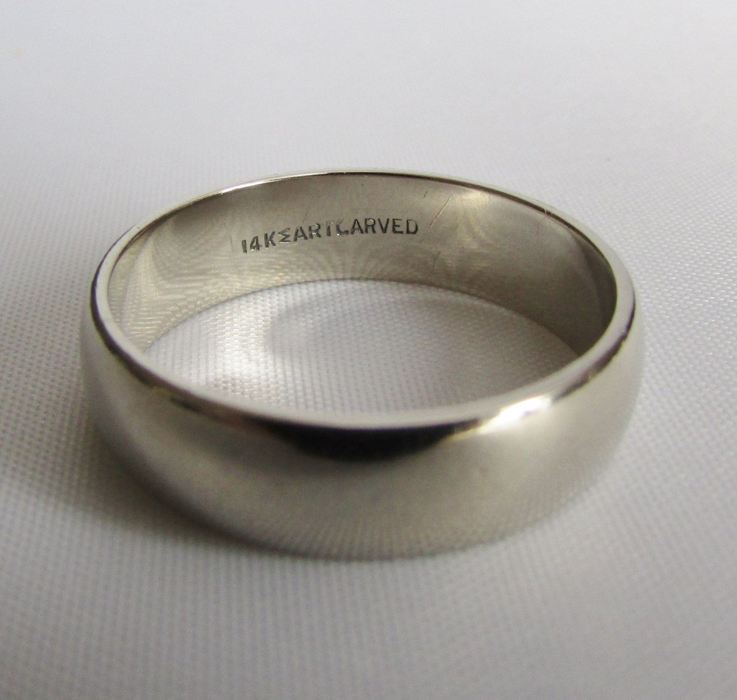 artcarved j r wood and sons men s white gold wedding band