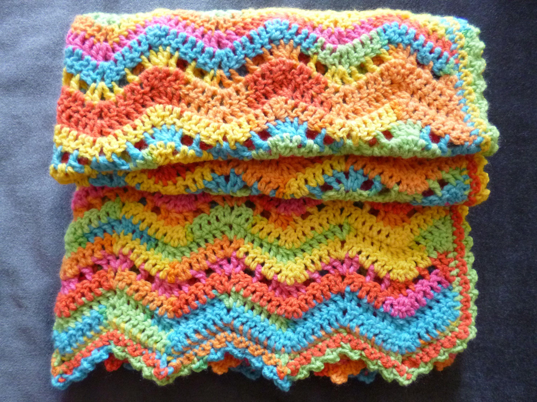 Crochet Baby Blanket In Bright Rainbow Colours Made To Order Etsy In 2020 Baby Blanket Crochet Crochet Baby Handmade Blanket