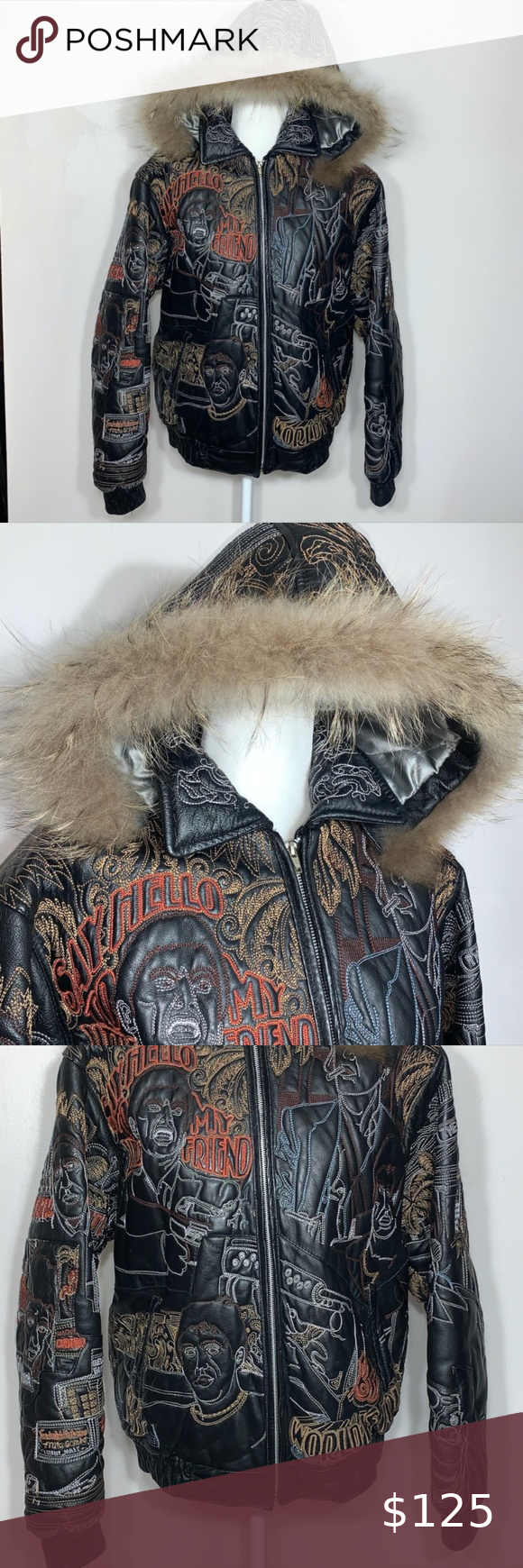 Vilanto Embroidery Leather Jacket Unisex Embroidery Everywhere Leather Jacket Lined Inside 2 Pockets Outside And Leather Jacket Jackets Clothes Design [ 1740 x 580 Pixel ]