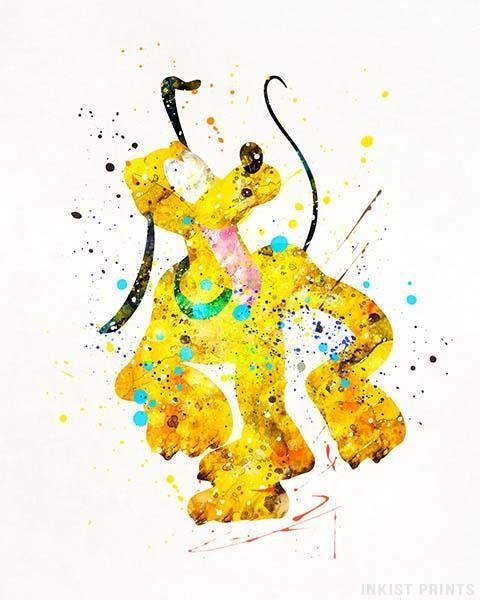 Pluto Print Papel De Parede Disney Desenhos Princesas Disney E