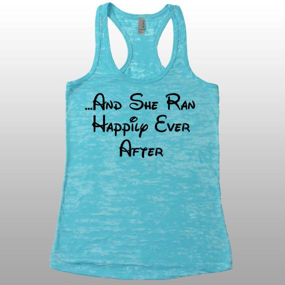 And She Ran Happily Ever After Womens Disney Running Tank