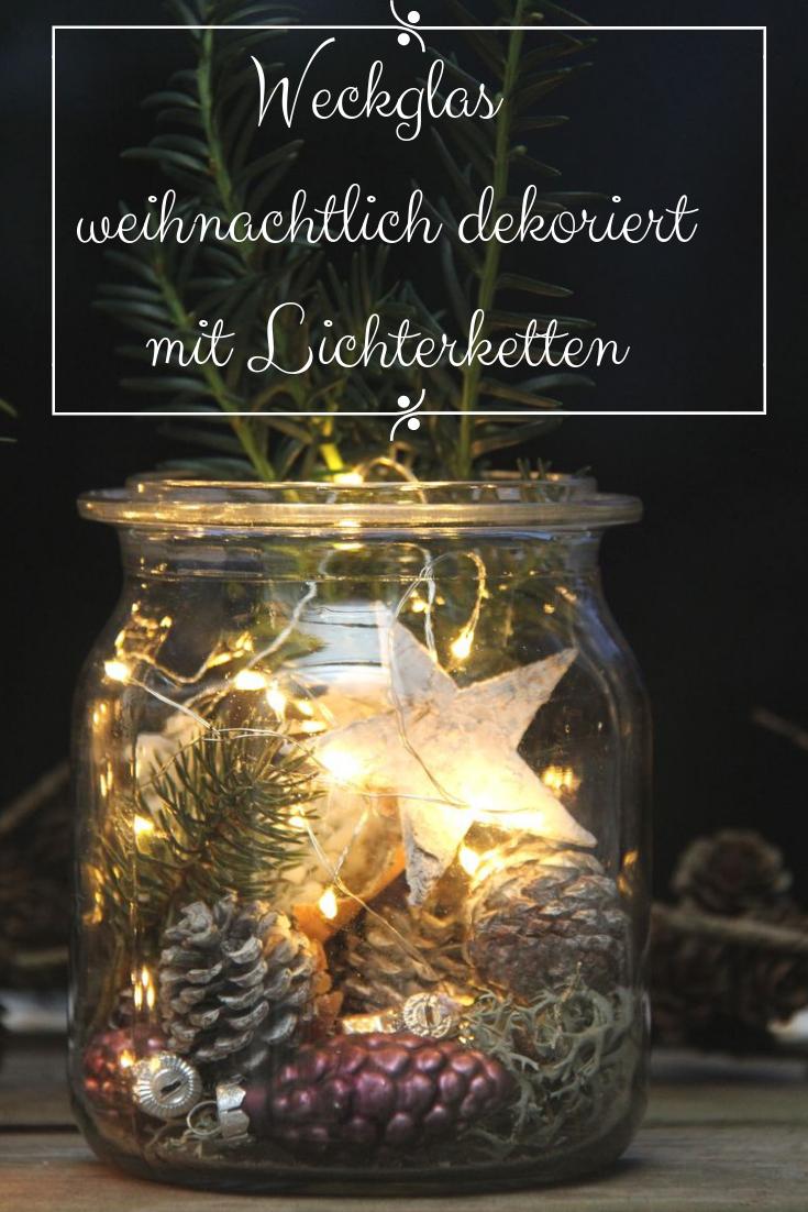 Photo of Fairy lights in a mason jar