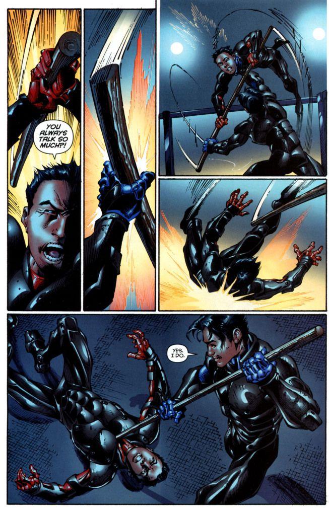 dick grayson amp damian wayne training comics dc batman