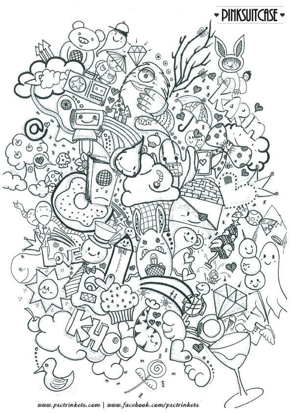 Vorlagen Coloring Pages Doodle Drawings Cute Doodles