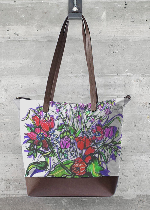 VIDA Foldaway Tote - Coming Up Roses by VIDA uVAnx1IK2g
