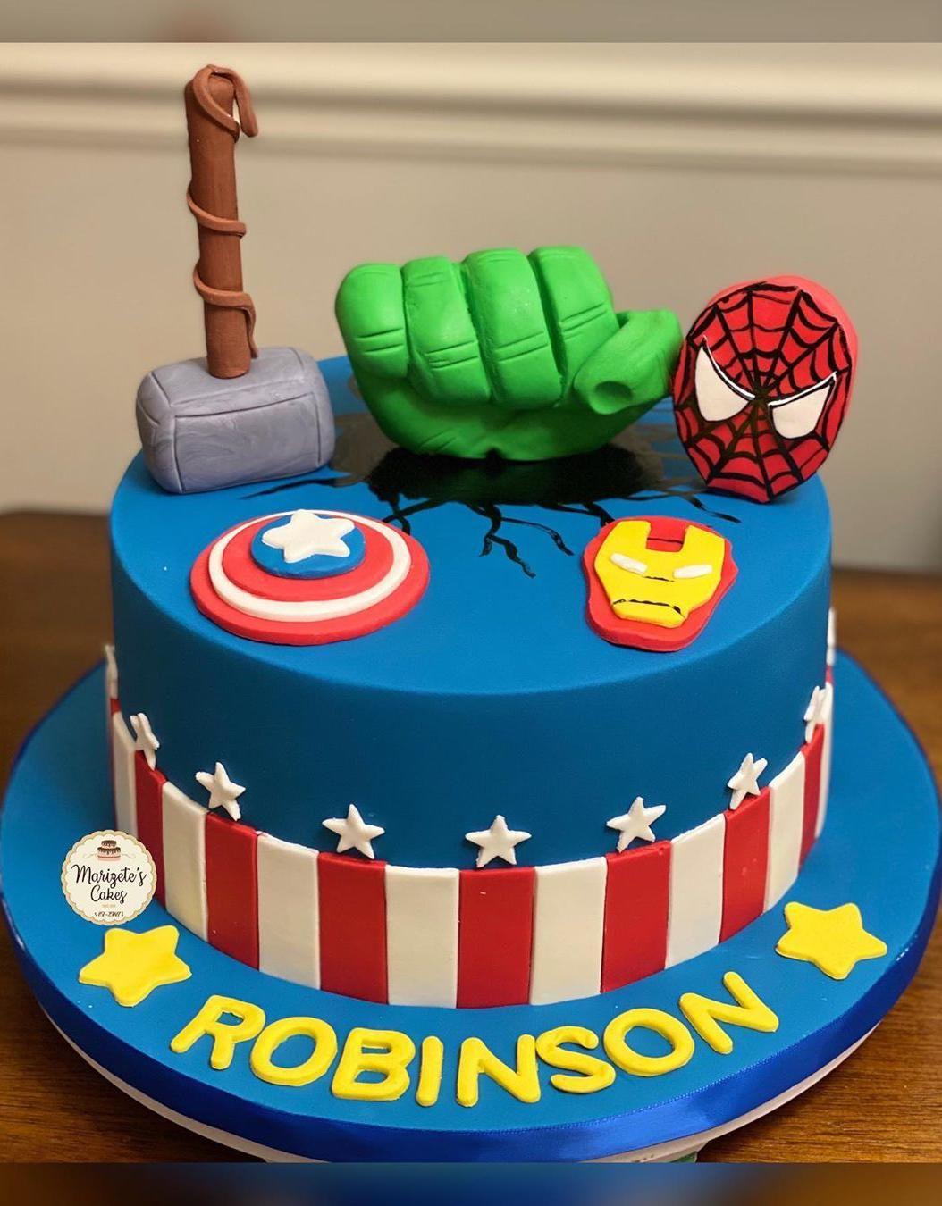 avengers birthday cake design