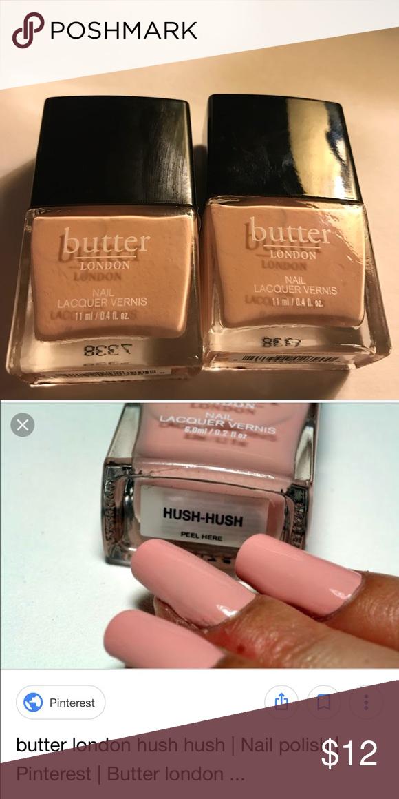 Butter London Hush Hush Nail Polish New Sealed New Butter