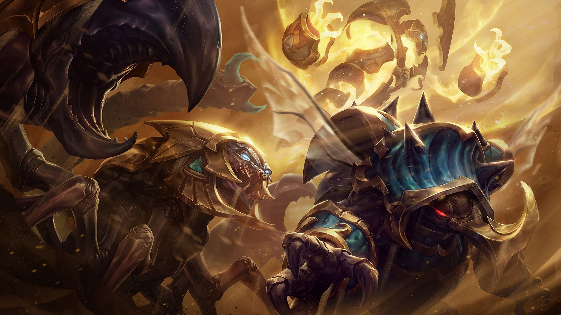Download Wallpaper Guardian Of The Sands Skins For Skarner Rammus