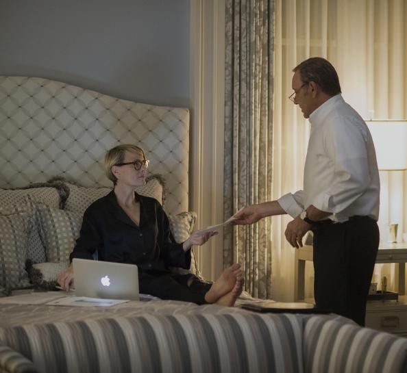 Snag Claire Underwood's Silk Pajamas From House Of Cards