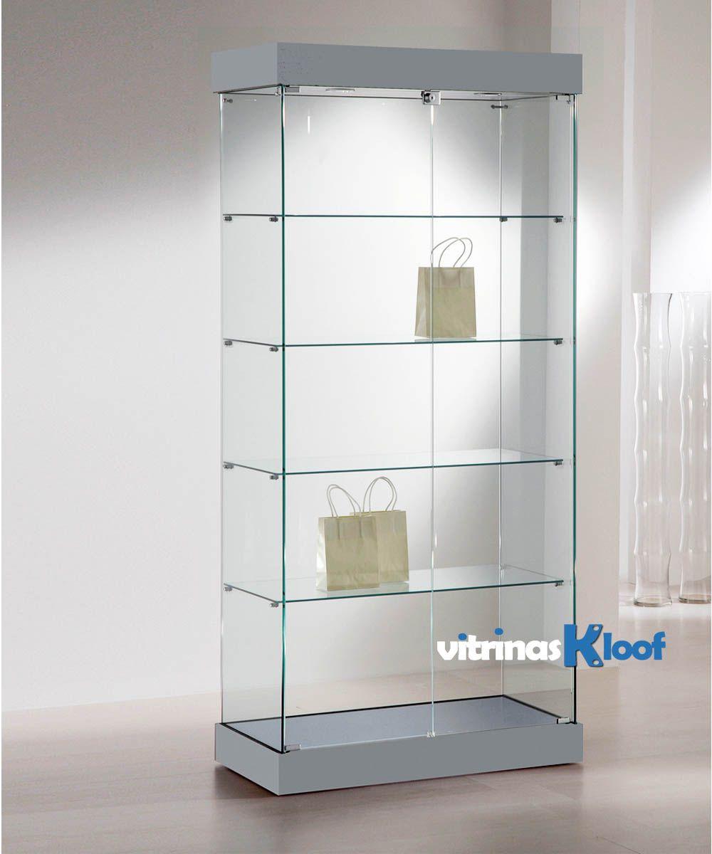 Vitrinas kloof vitrina de madera y cristal 131 cc - Vitrina cristal ikea ...