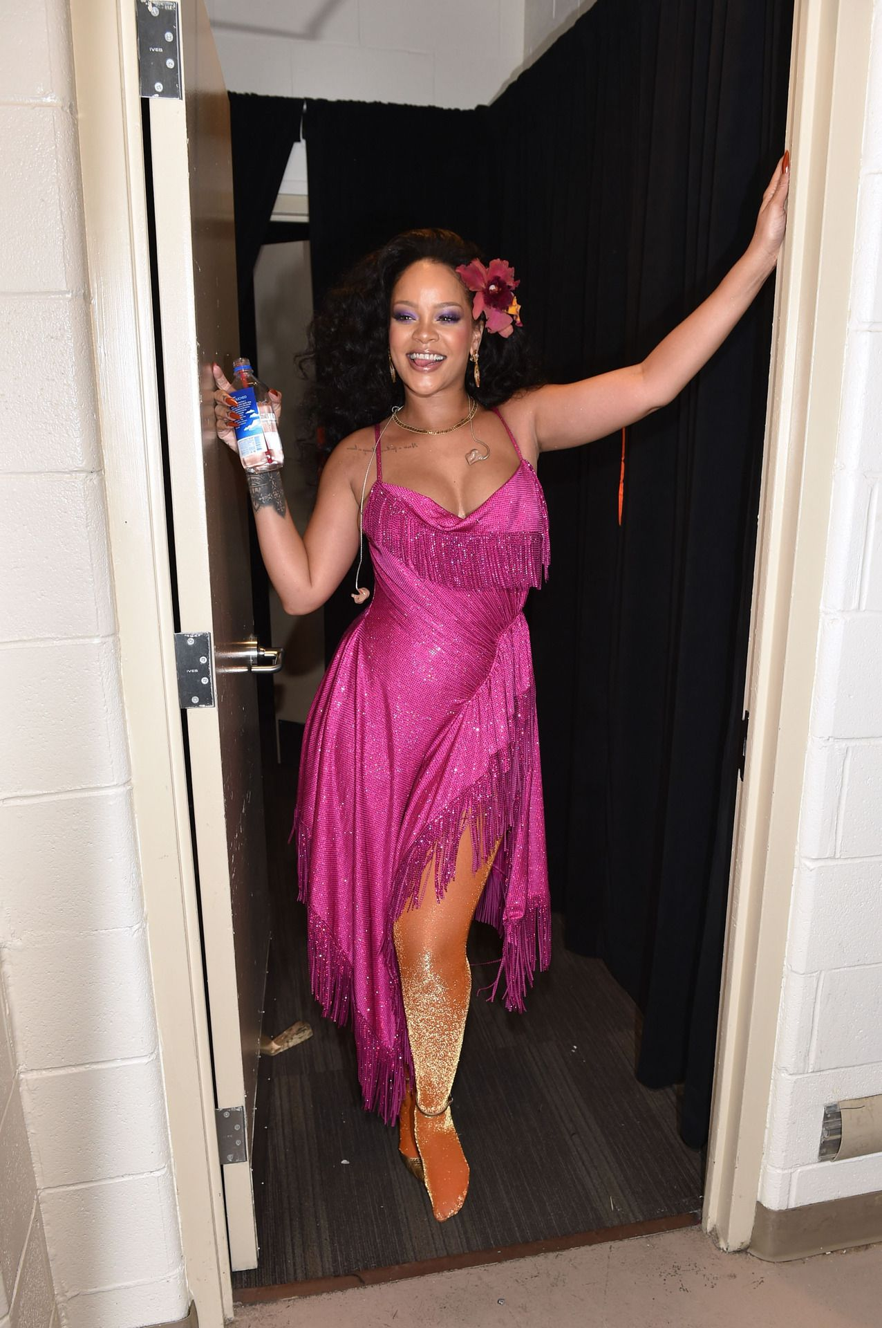 Rihanna backstage at the 60th Annual GRAMMY Awards | Rihanna ...