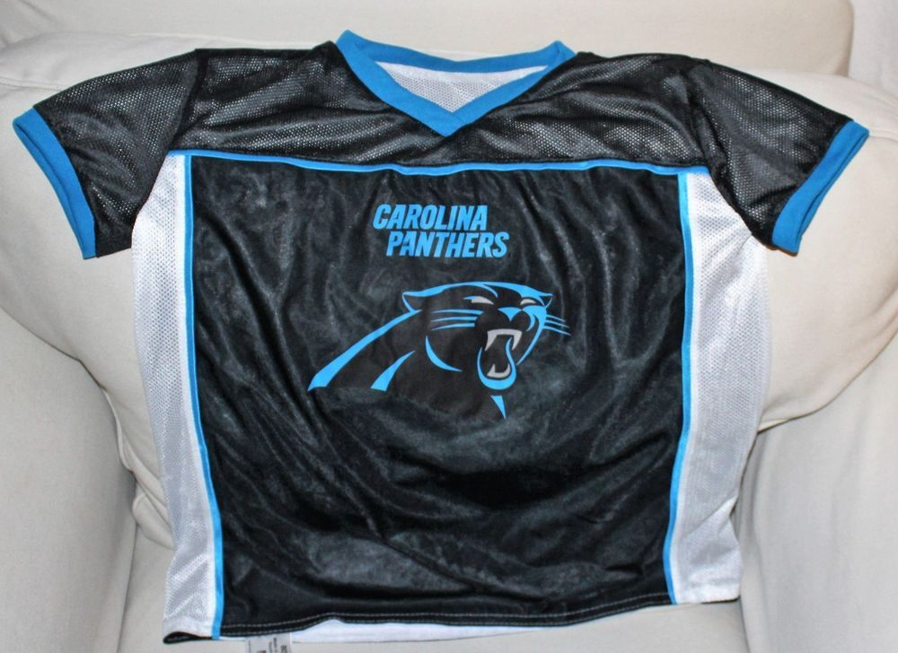Nfl Flag Football Reversible Carolina Panthers Jersey Youth L Nfl
