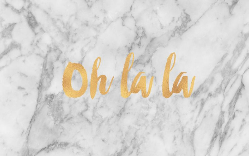 Grey Gold Marble Oh La Desktop Wallpaper Background Quotes