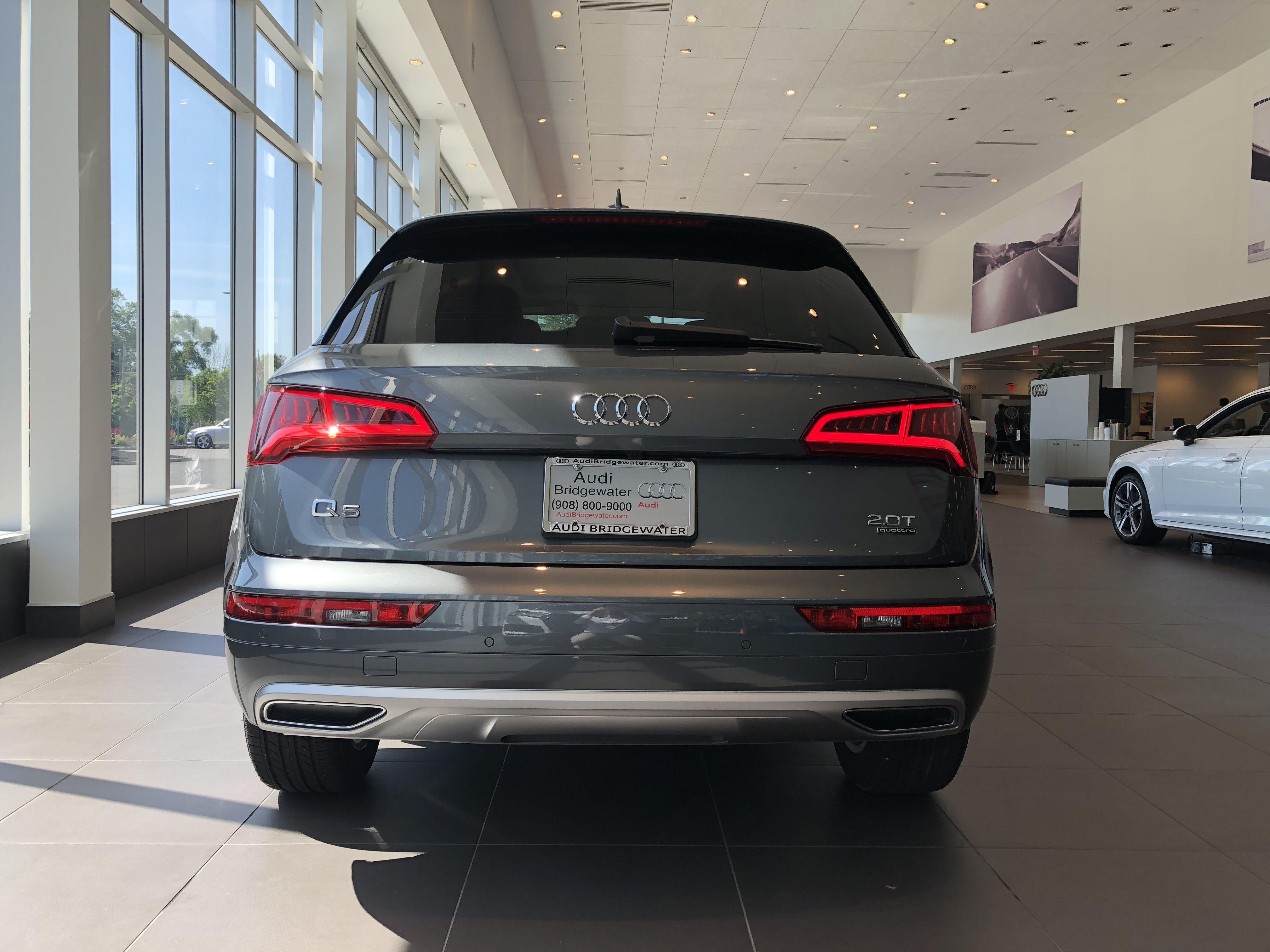 Rear View Of 2018 Audi Q5 In Monsoon Grey Metallic Vehicle