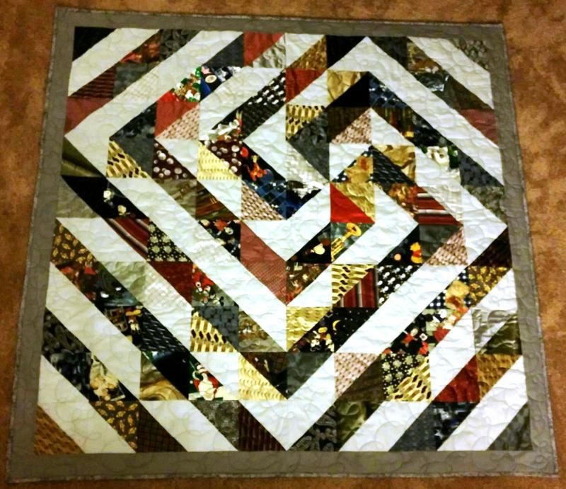 Custom Memory Quilts - Necktie Quilts CustomMemoryQuilts ...