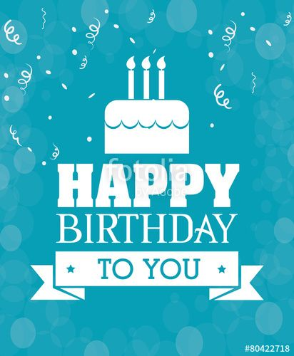 Vector Happy birthday card design – Birthday Greetings Designs