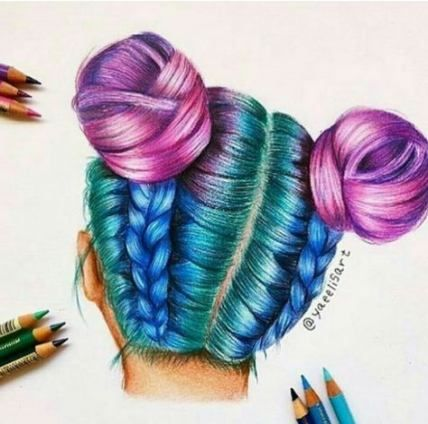 Photo of Art 45 Ideas Hair Drawing Sketches Colored Pencils For 2019 Drawing Art Colored …
