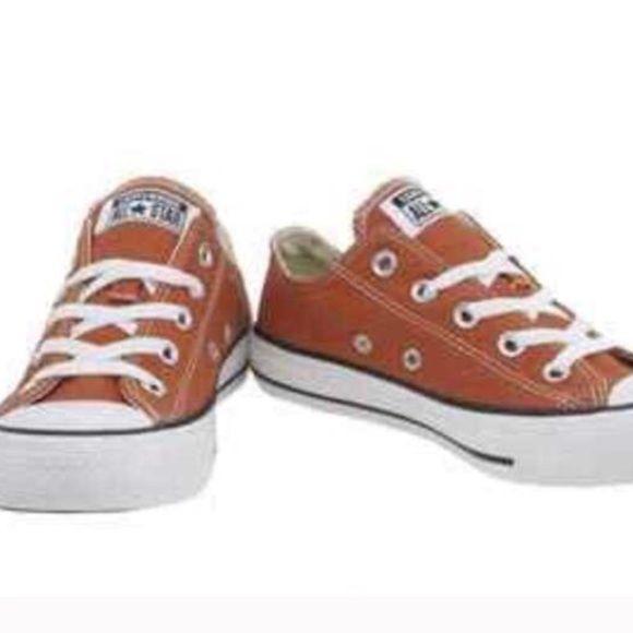 Burnt orange converse shoes   Orange