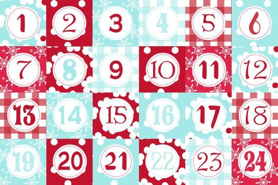Advent Calendar Printable Paper Box Template Red by chichiboulie - printable calendar sample
