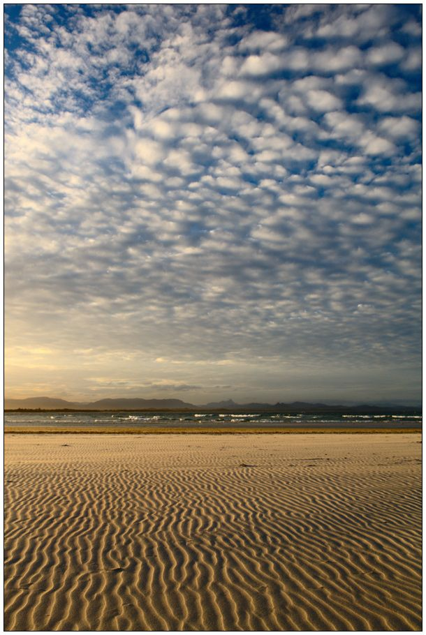 Patterns in sand and clouds by wildplaces