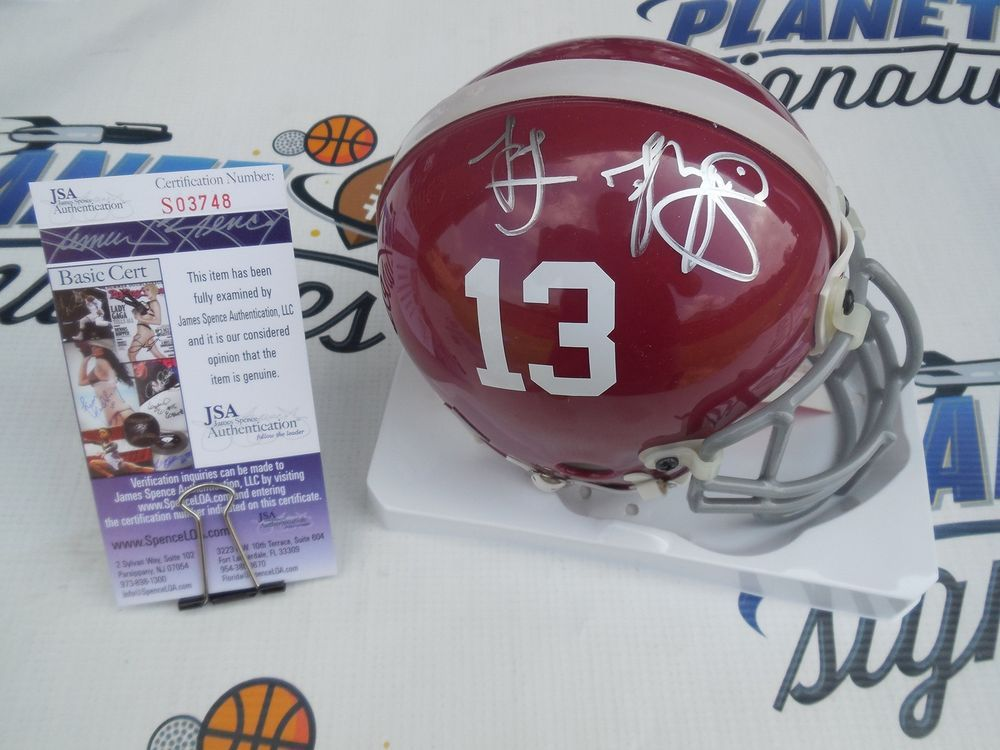 f866af7ea Tua Tagovailoa Signed Alabama Crimson Tide AUTHENTIC Mini Helmet JSA COA   Riddell