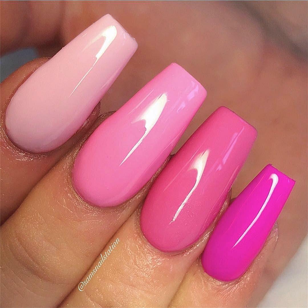 Repost Samsnailstation When One Shade Of Pink Isn T Enough Samsnailstation Nailprodigy Nail Pink Acrylic Nails Pink Gel Nails Concert Nails