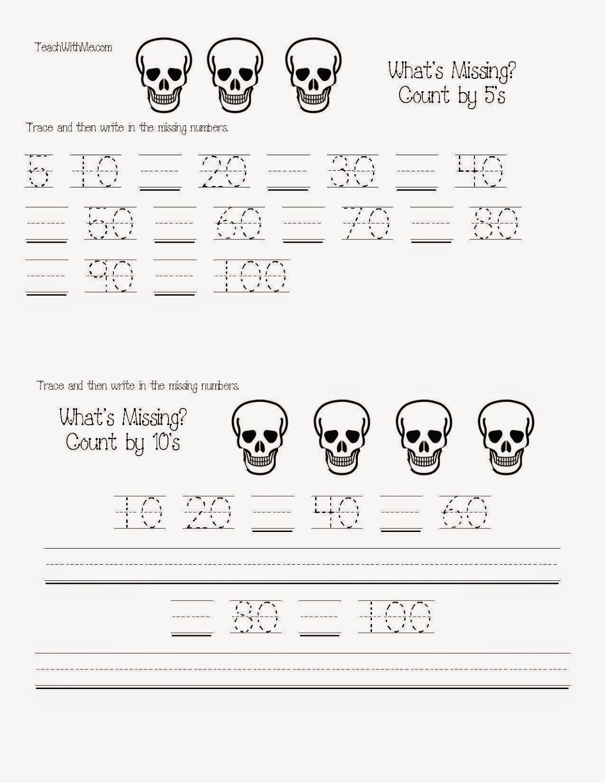 Common Core Skeleton Math Packet