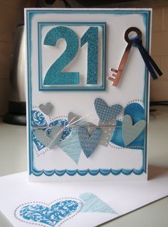 Janelles 21st card school fair and 21st birthday handmade 21st birthday card blog enchantink stampin up bookmarktalkfo Choice Image
