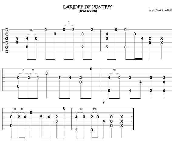 Tablature Breizh Tablature Guitars And Sheet Music