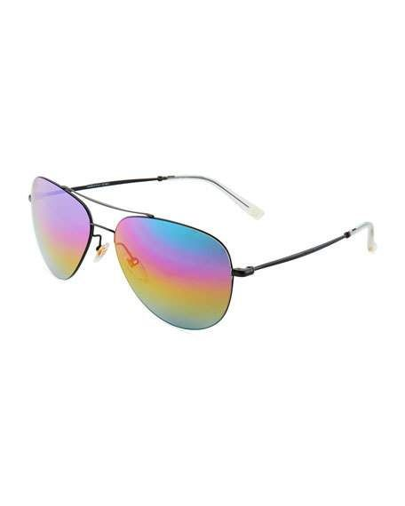 0fc28ef920177 GUCCI RAINBOW AVIATOR SUNGLASSES