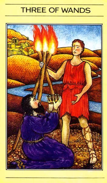 3 of Wands - Mythic Tarot   3 of Wands   Three of wands