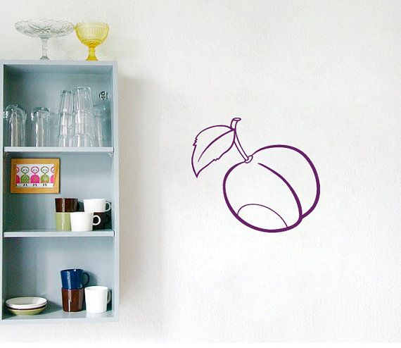 Wall Decals Juicy Plum Fruits Kitchen Cafe Home Interior Design - Printing vinyl decals at home