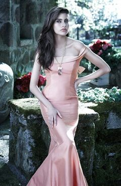 Off-the-shoulder Trumpet/ Mermaid Pinks Floor-length Homecoming Dresses - Prom Dresses - OuterInner.com