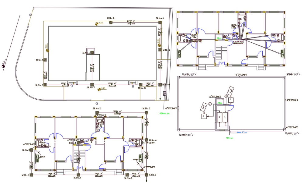 36 By 72 Feet House Plumbing Layout Plan Design Dwg File Plan Design Layout Design