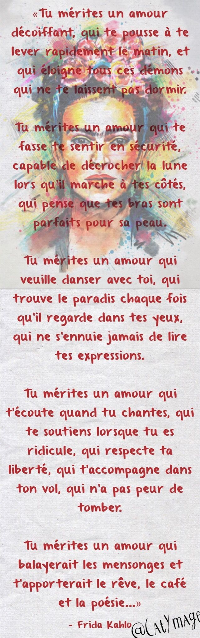 Tu Mérites Un Amour Décoiffant Qui Te Pousse à Te Lever